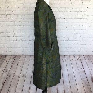 Vintage Dresses - Vintage Green Floral Dress